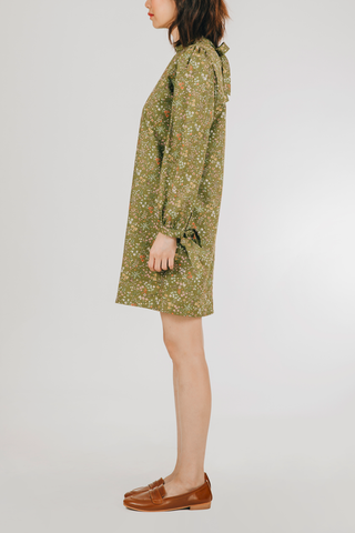 Munti Dress (in Green Floral)