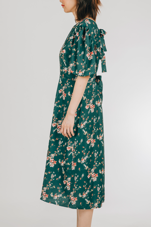 Paraluman Dress (in Green Floral)