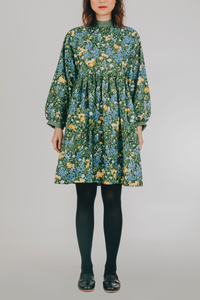Hiraya Dress (in Green Floral)