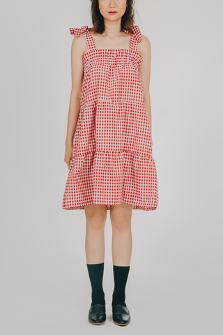 Sinag Dress (in Red Gingham)