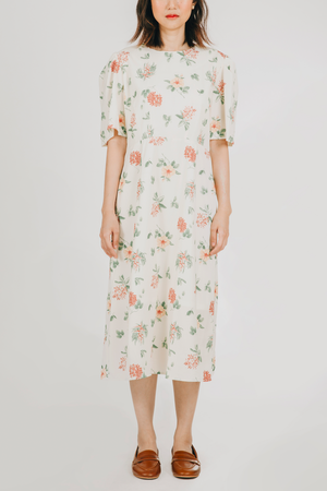Paraluman Dress (in Off White Floral)