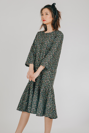 Ulan Dress (in Black Floral)