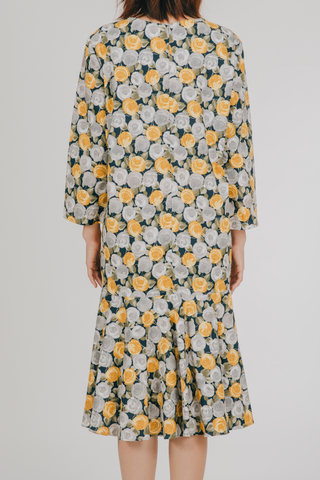 Ulan Dress (in Yellow Floral)