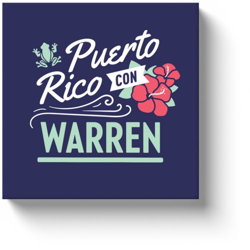 Puerto Rico is All In For Warren - Wrapped Art Canvas