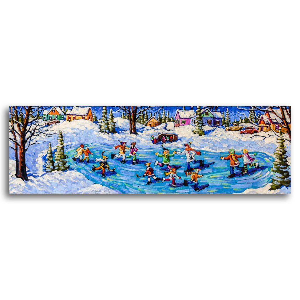 A Winter Whimsy Oil on Canvas by Rod Charlesworth