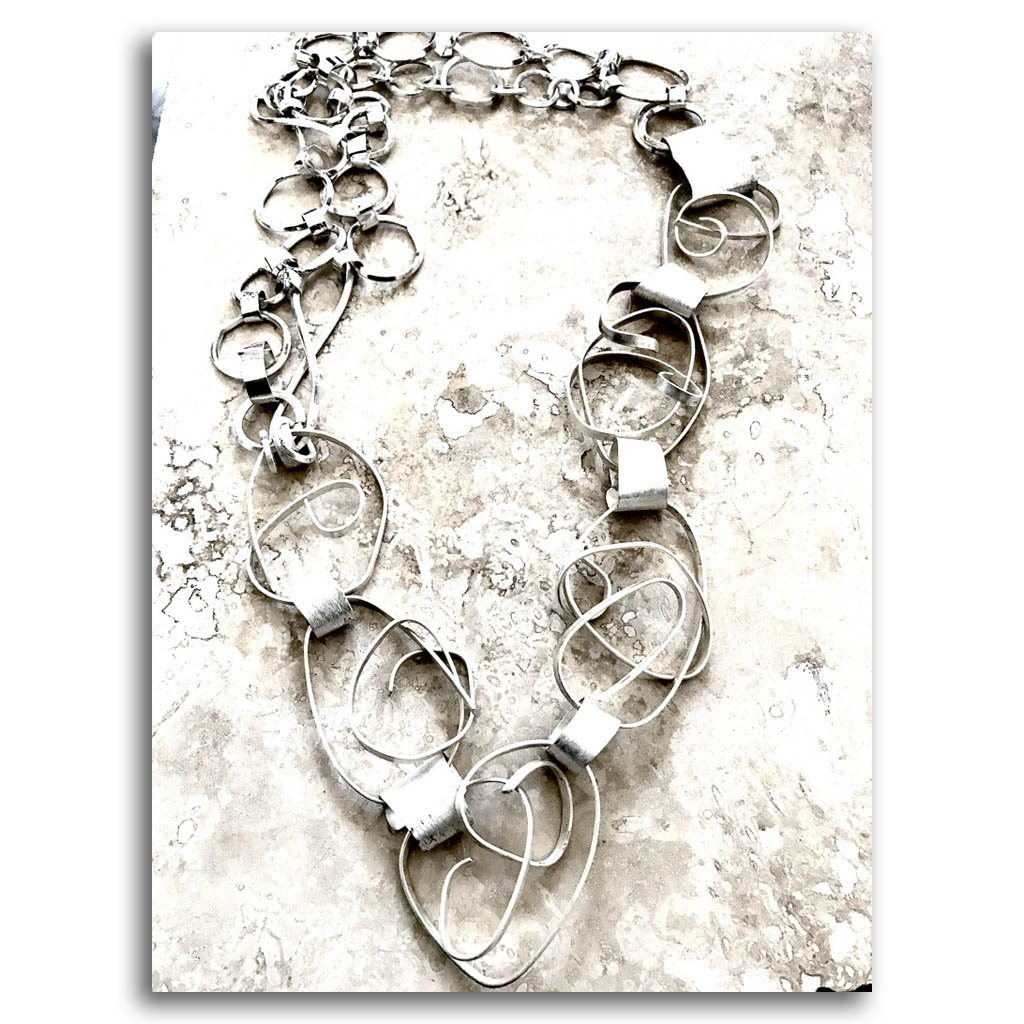 Admirable Necklace #5 Haute Couture .950 Silver Reticulation by Dulce Alba Lindeza