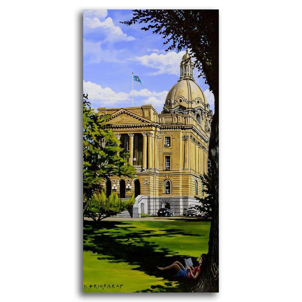 Alberta Legislature Acrylic on Canvas by Fraser Brinsmead