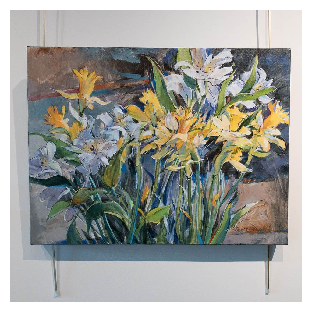 Alstros and Daffodils Acrylic on Canvas by Brent Laycock RCA