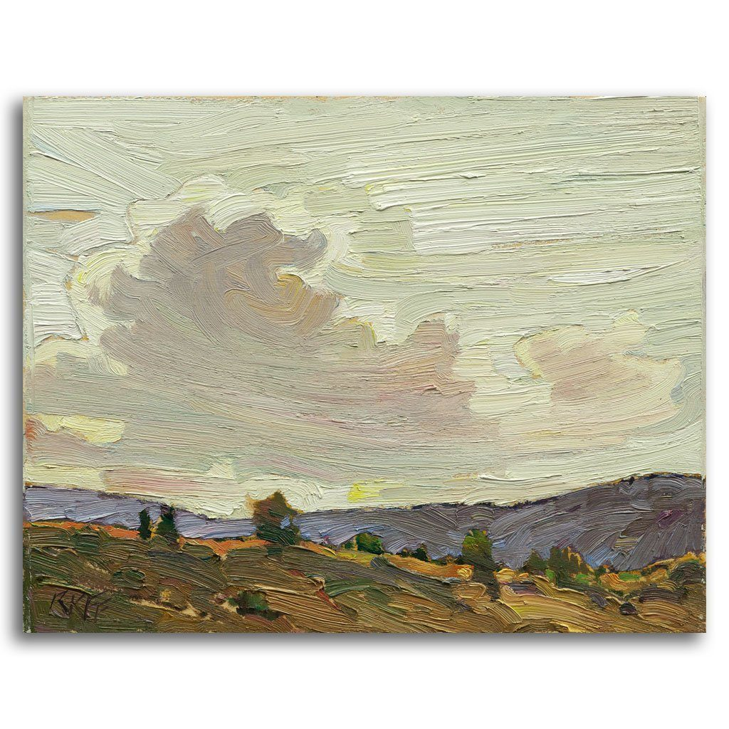 Ashcroft Morning Oil on Board by Ken Faulks
