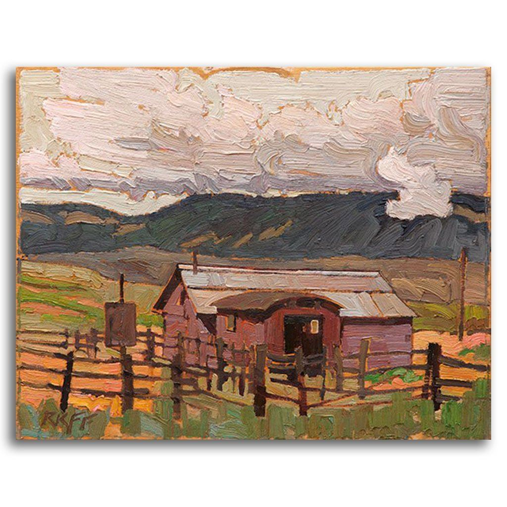 Ashcroft Shed Oil on Board by Ken Faulks