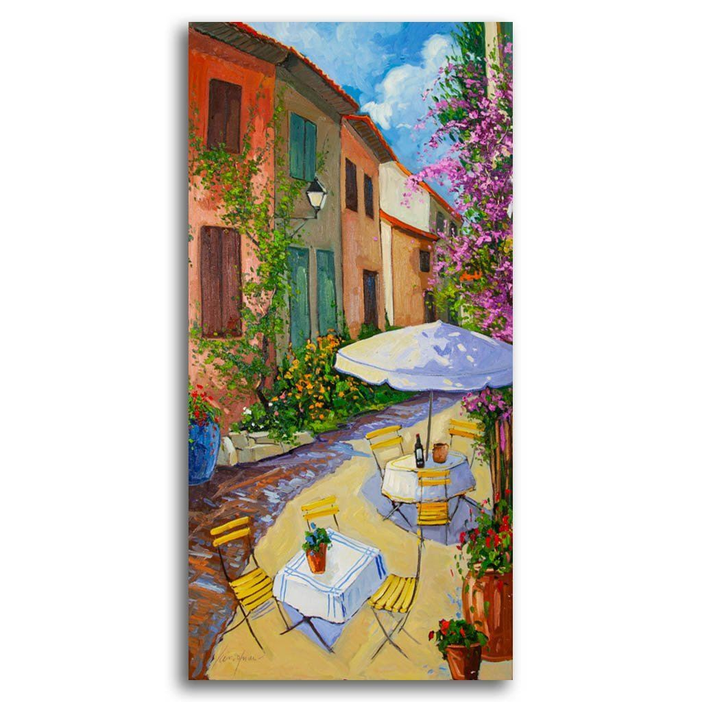 Au hasard d'une terrasse Oil on Canvas by Robert Savignac