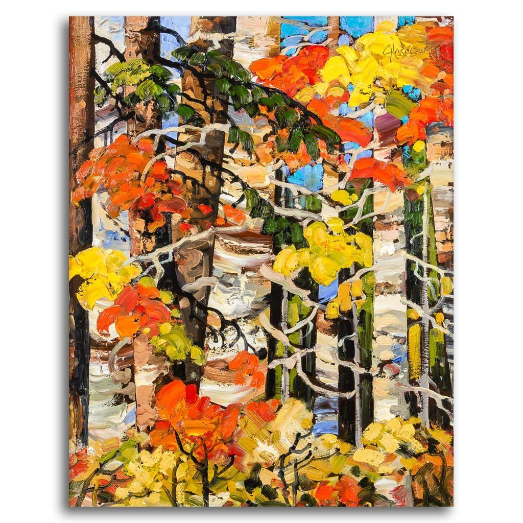 Autumn Mosaic Oil on Board by Rod Charlesworth