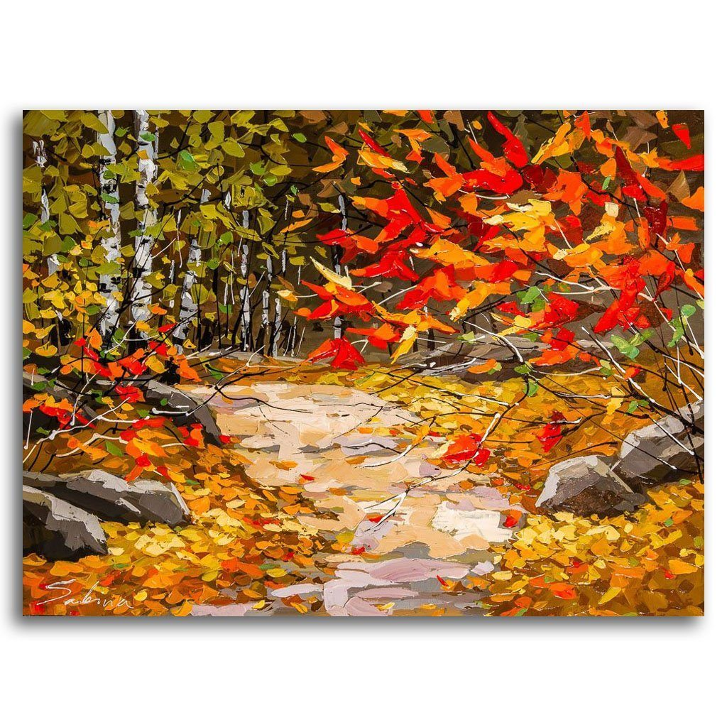 Autumn Path Acrylic on Canvas by Sabina