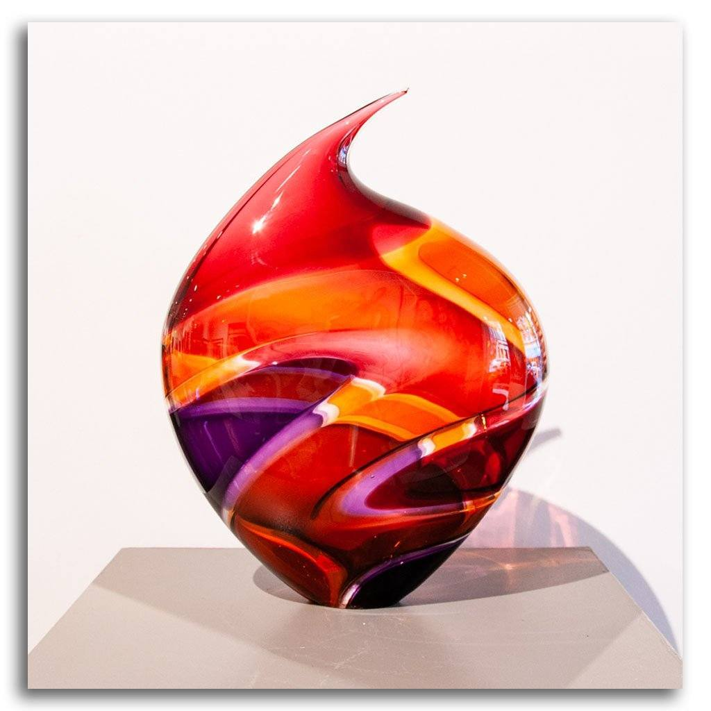 Baby Incalmo Vessel - Sienna Blown Glass by Paull Rodrigue