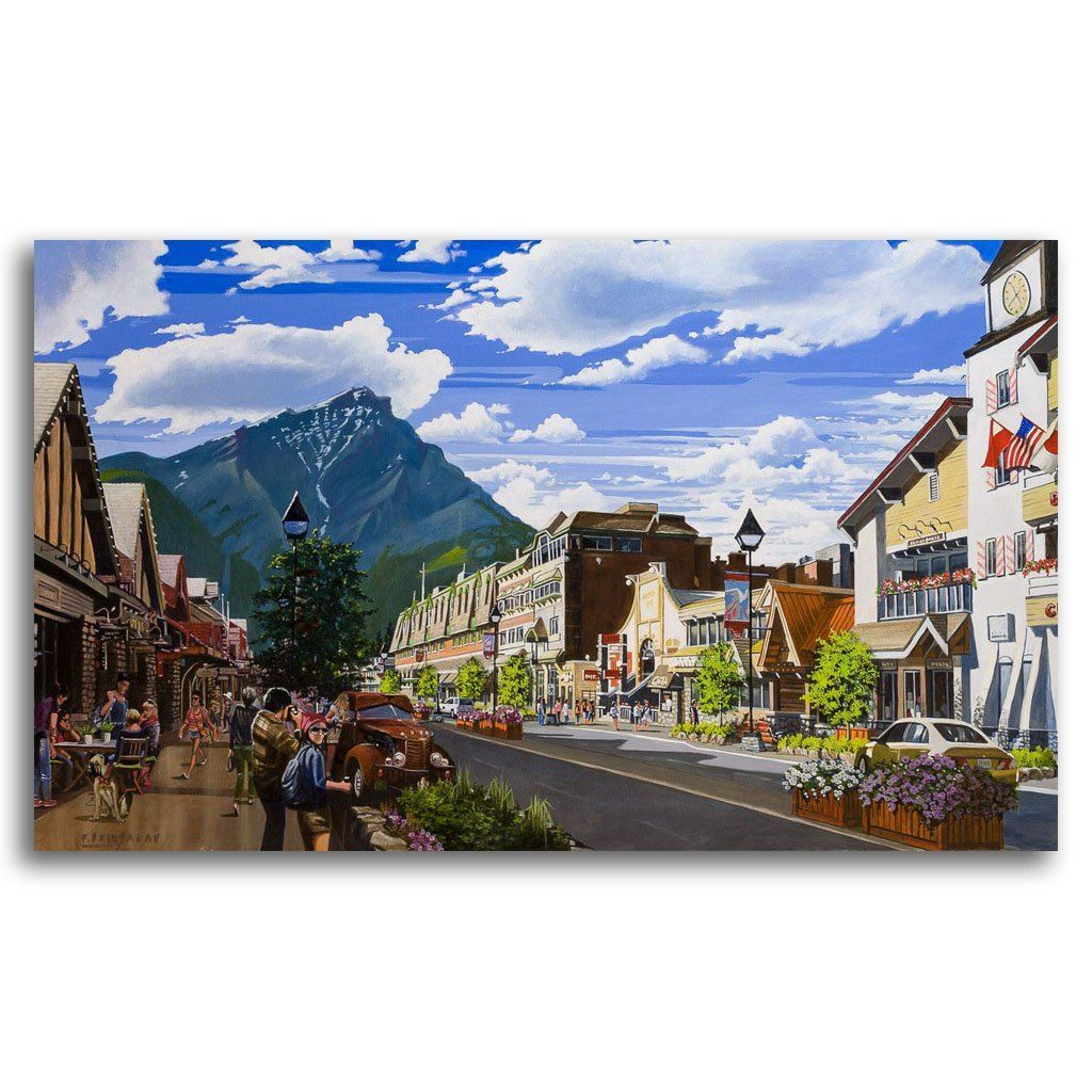 Banff Avenue Acrylic on Canvas by Fraser Brinsmead