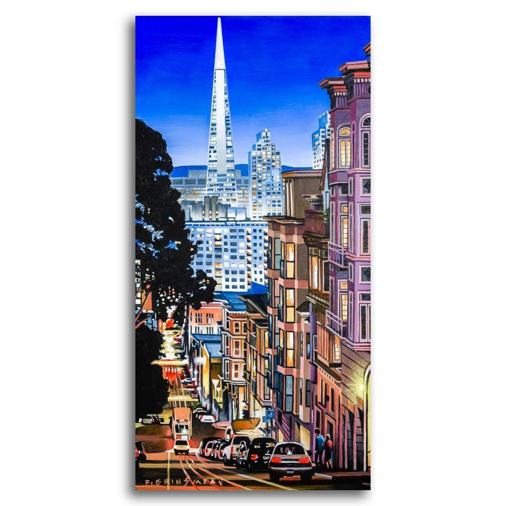 Bay Area Glow Acrylic on Canvas by Fraser Brinsmead