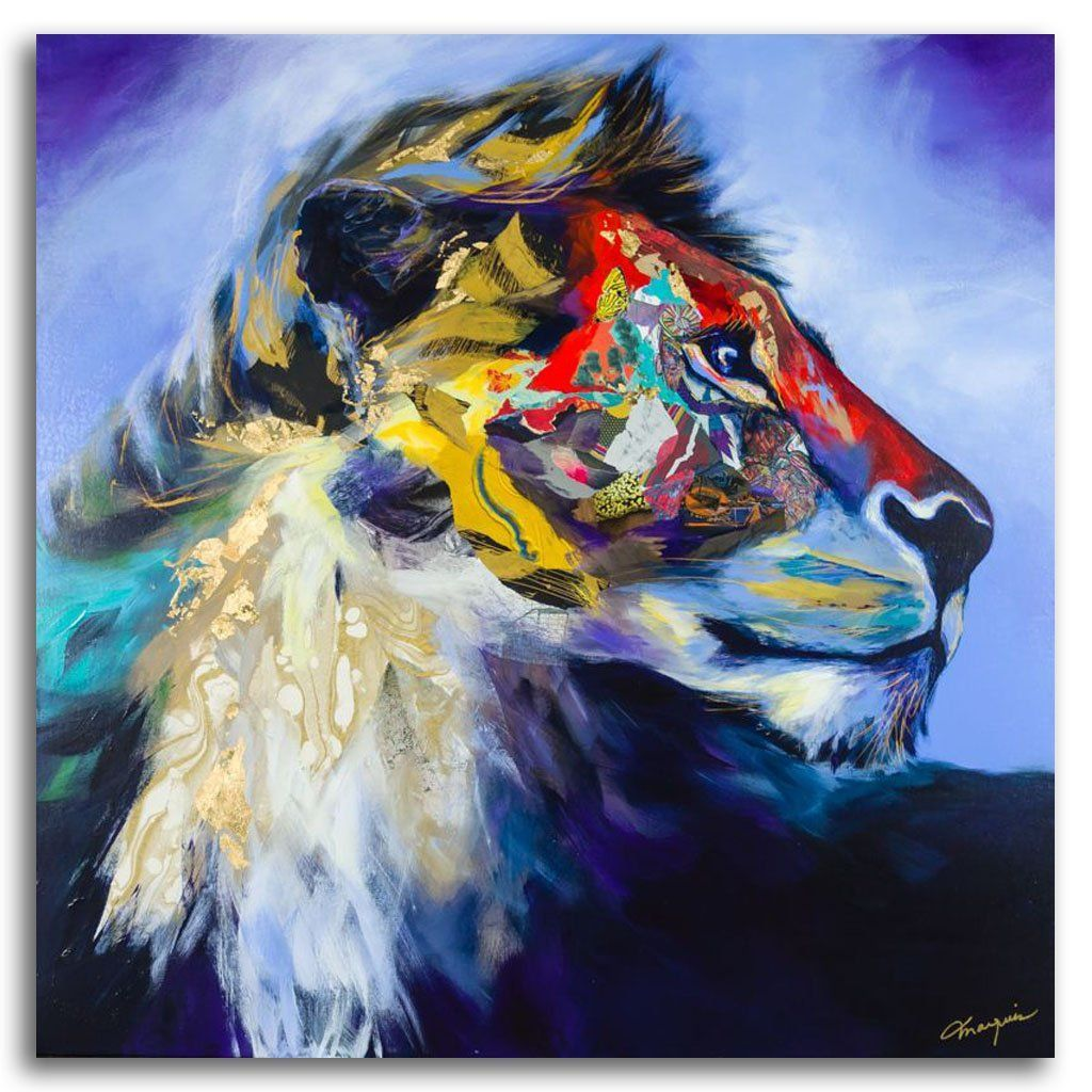Big Chief Mixed Media on canvas by Annabelle Marquis