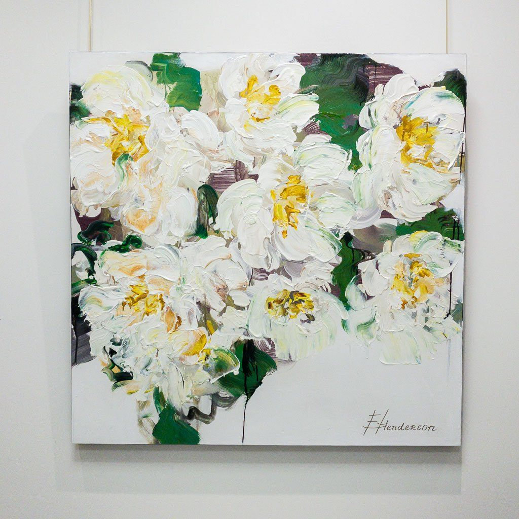 Blooming Paradise Series #4 Acrylic on Canvas Elena Henderson