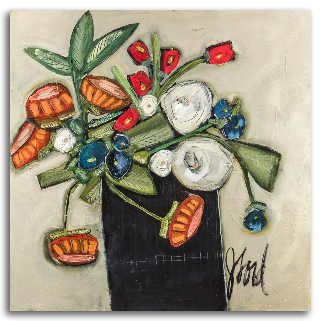 Bouquet d'automne Acrylic on Canvas by Josée Lord