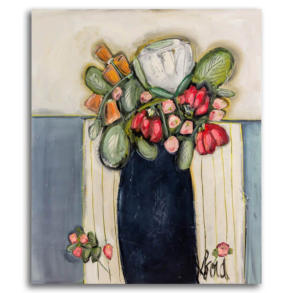 Bouquet en Création Acrylic on Canvas by Josée Lord