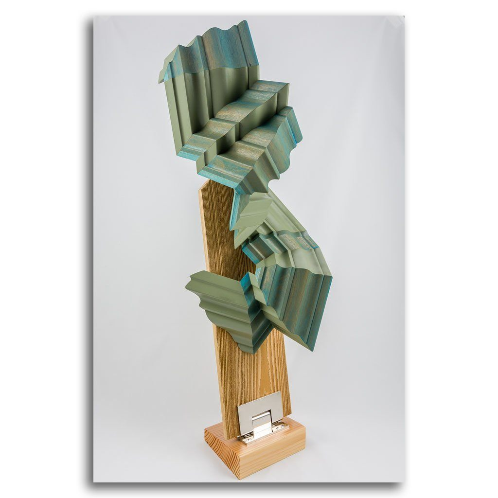 C 2013 Reclaimed Wood Mixed Media Sculpture by Andrew Mirth