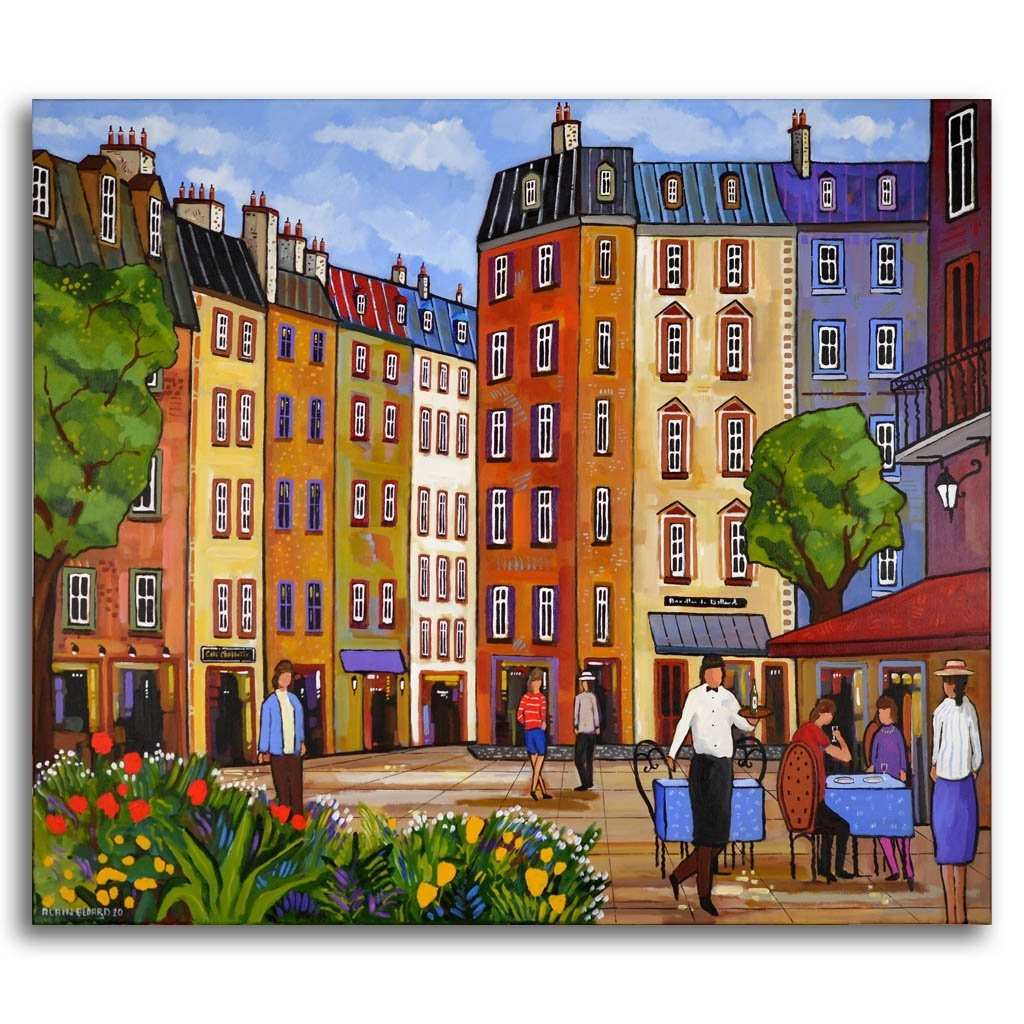 Champs Élyseés Acrylic on Canvas by Alain Bédard
