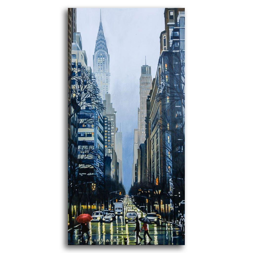 Chrysler Rain Acrylic on Canvas by Fraser Brinsmead