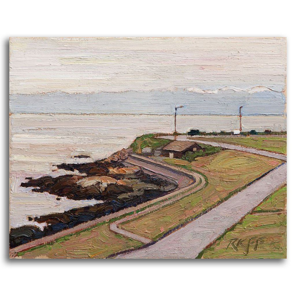 Clover Point View Oil on Board by Ken Faulks