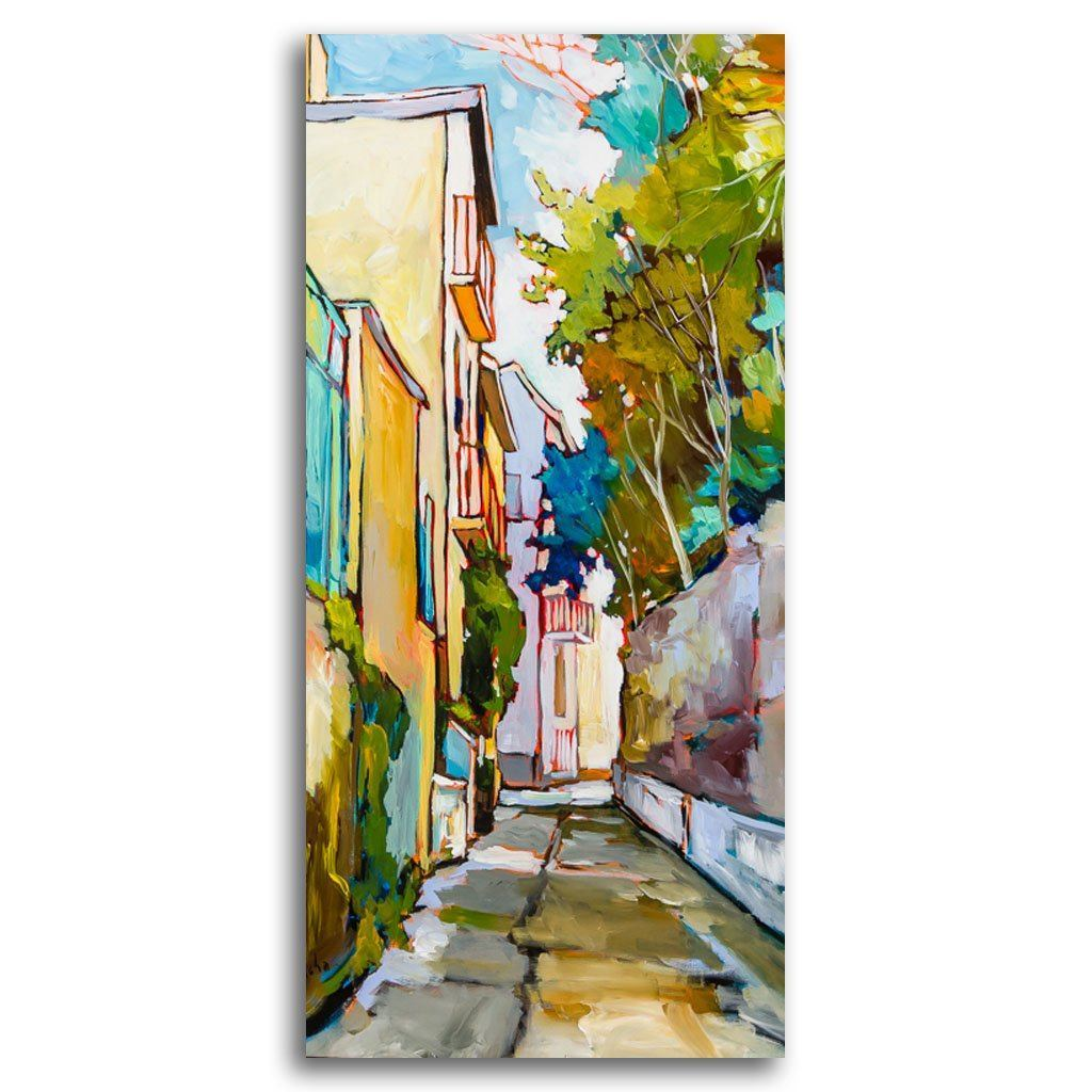Collioure, Rue Edgard Quinet II Acrylic on Canvas by Sacha Barrette