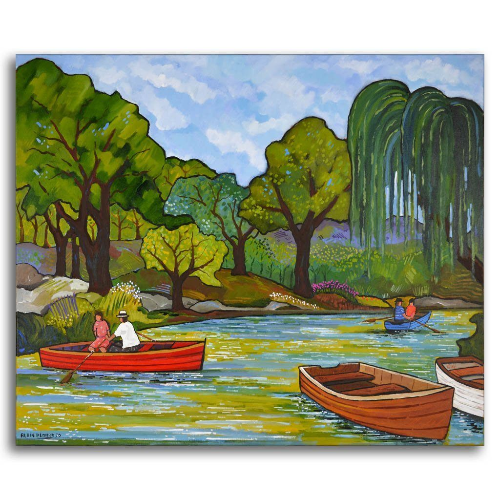 Cuitadella Park Acrylic on Canvas by Alain Bédard