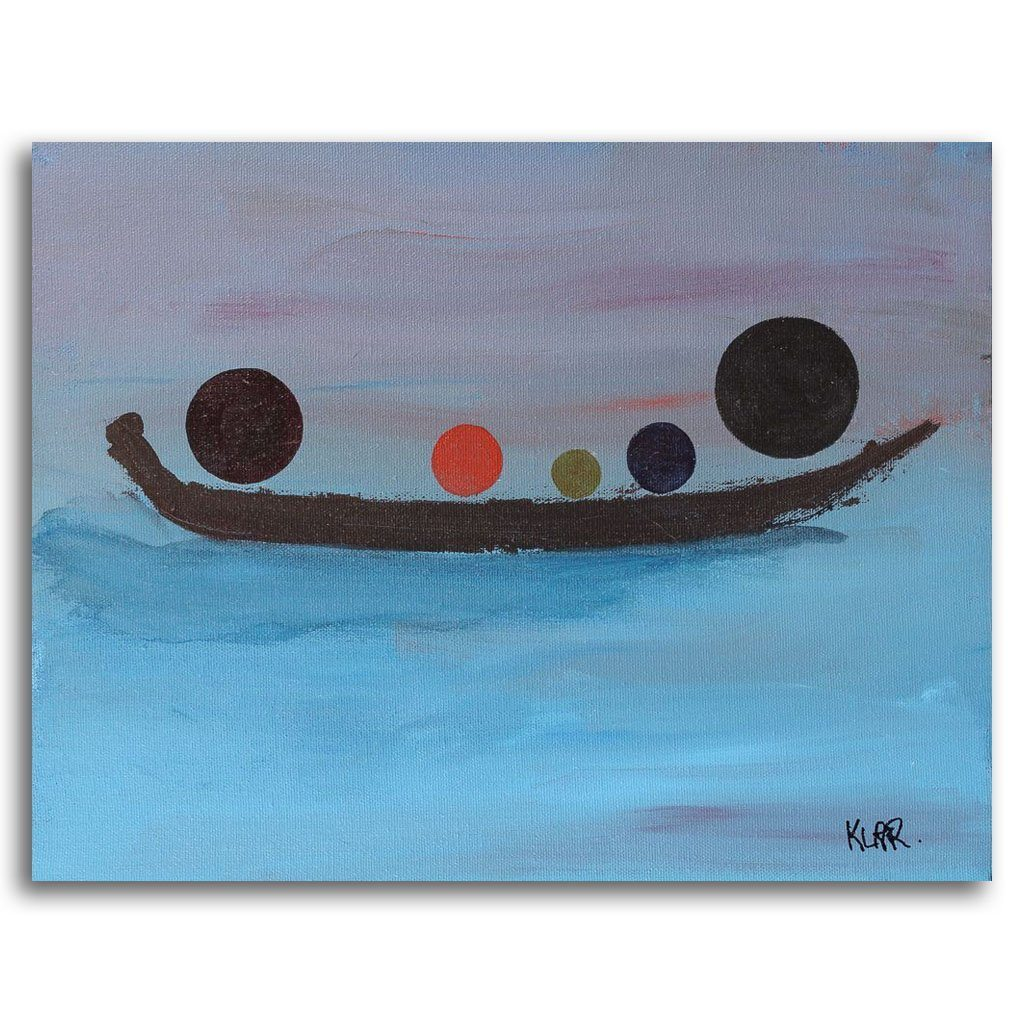 Dusk Float Acrylic on Canvas by Irene Klar