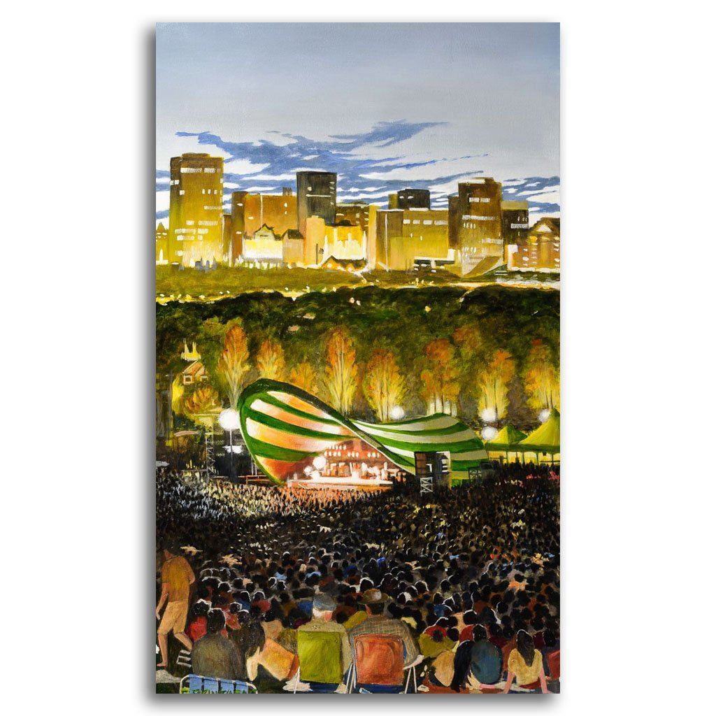 Edmonton Folk Festival Acrylic on Canvas by Fraser Brinsmead