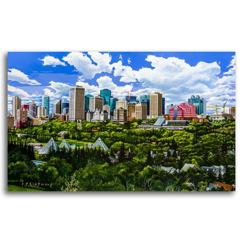 Edmonton Skyline Acrylic on Canvas by Fraser Brinsmead