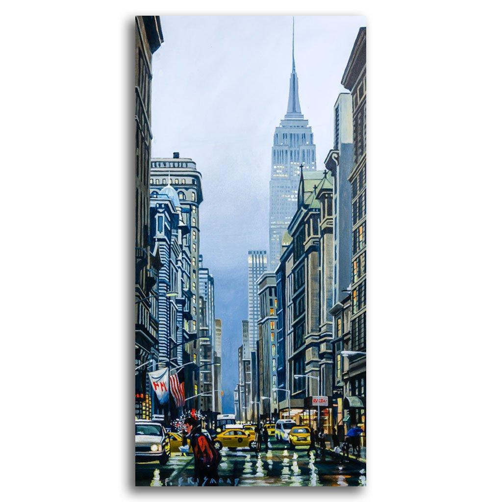Empire State Rain Acrylic on Canvas by Fraser Brinsmead