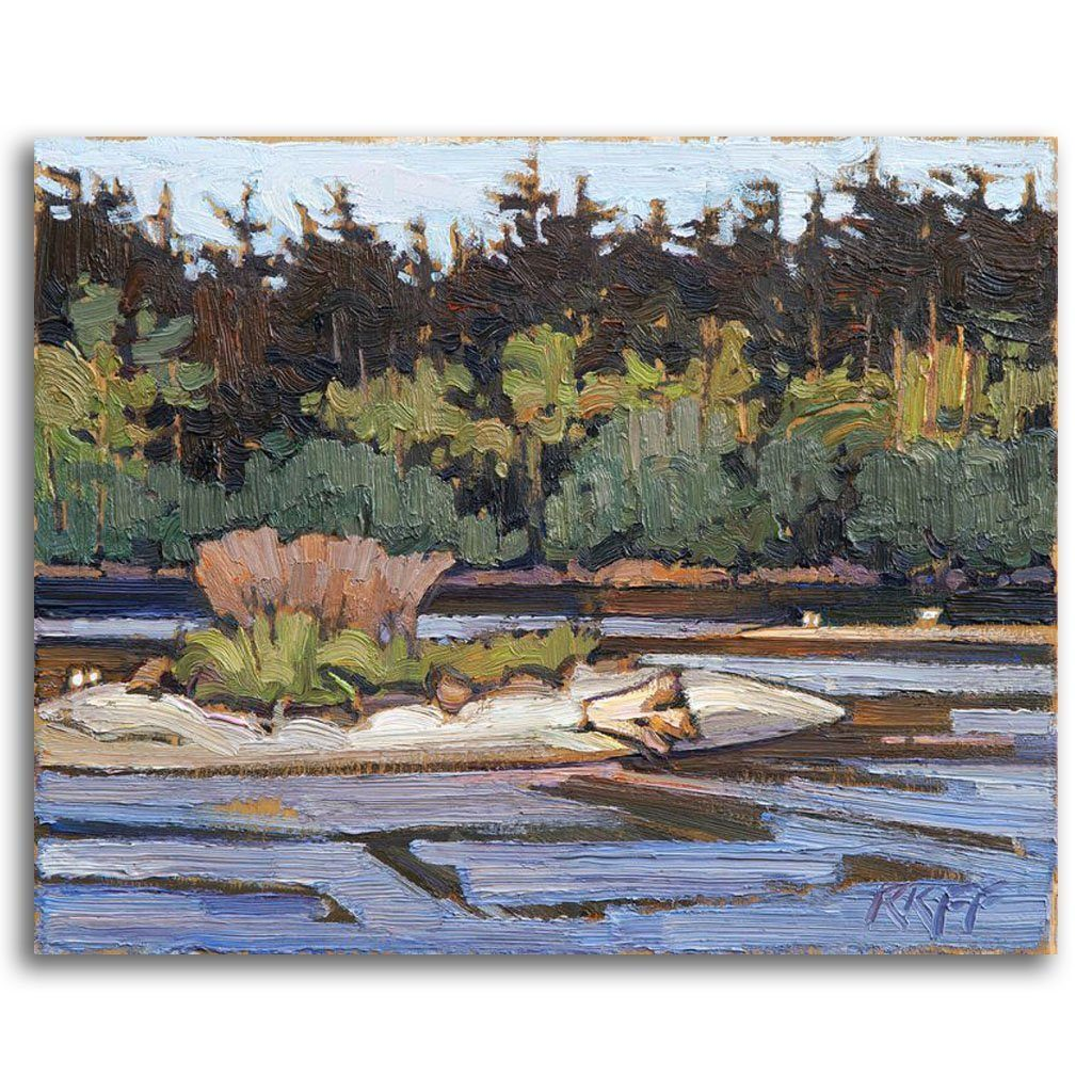 Esquimalt Lagoon Oil on Board by Ken Faulks