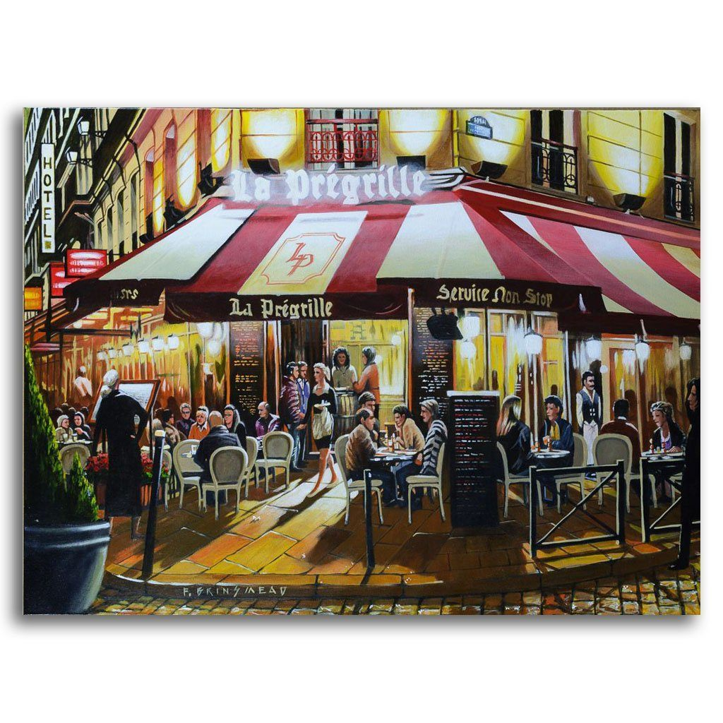 Evening at La Prégrille Acrylic on Canvas by Fraser Brinsmead