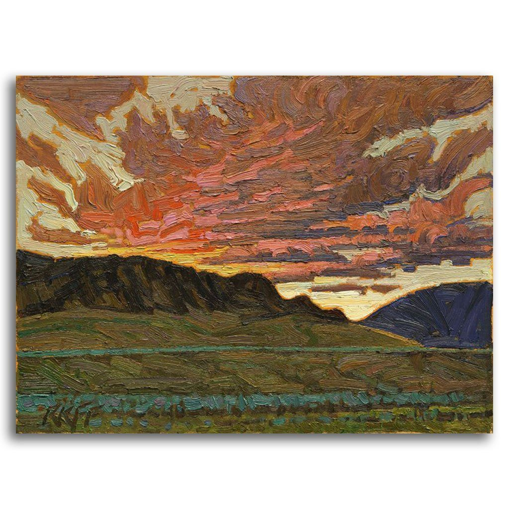 Evening Sky, Ashcroft BC Oil on Board by Ken Faulks