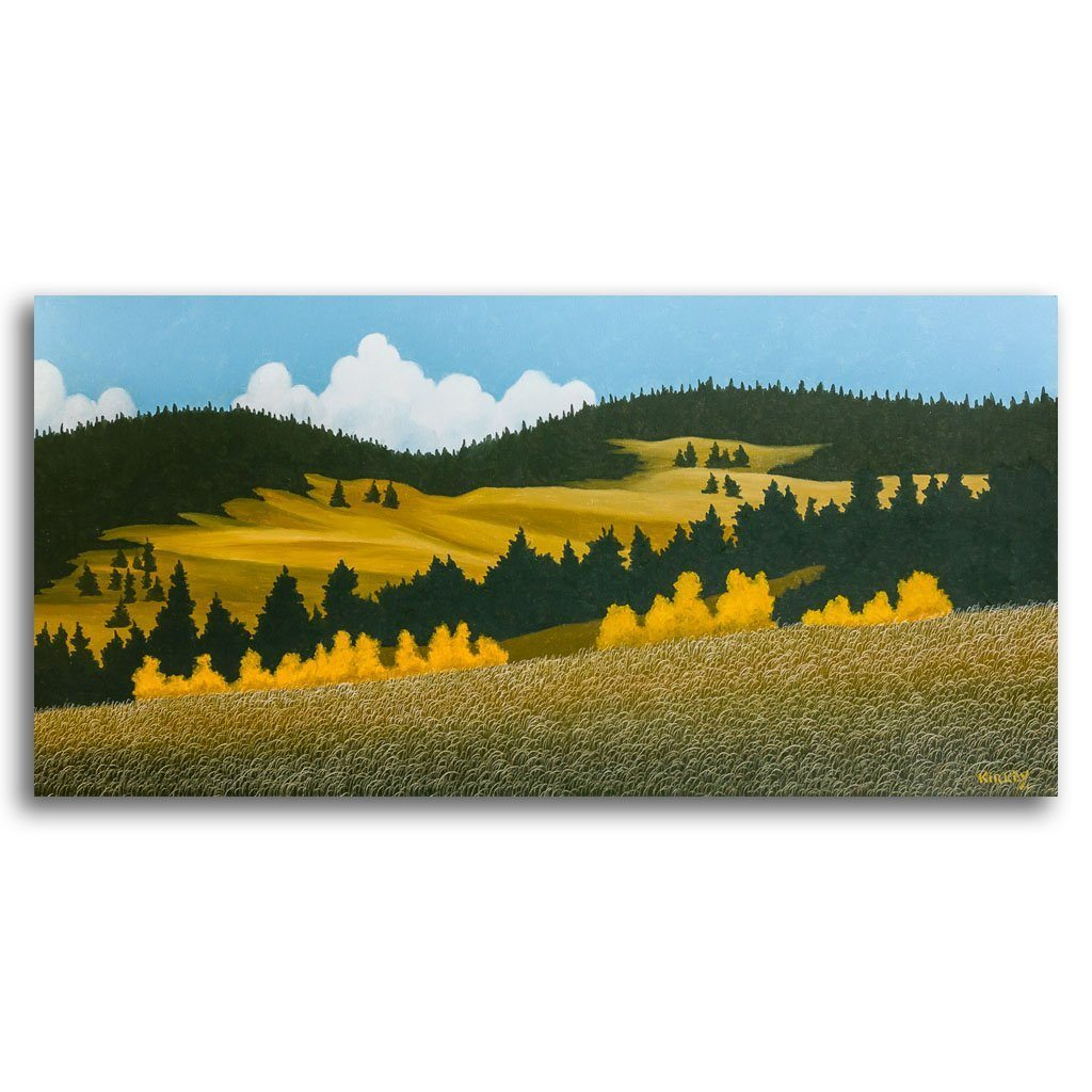 Fall in the Foothills Oil on Canvas by Ken Kirkby