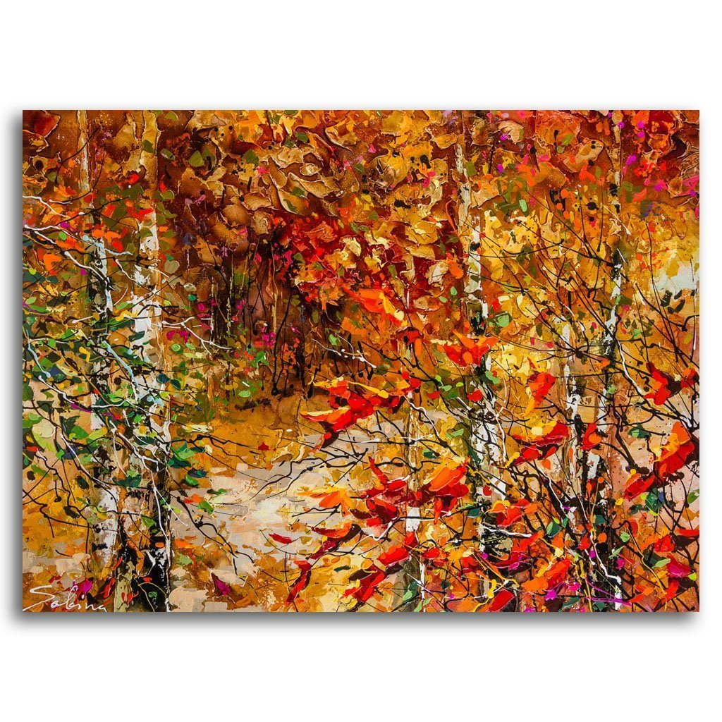 Fall Splendour Acrylic on Canvas by Sabina