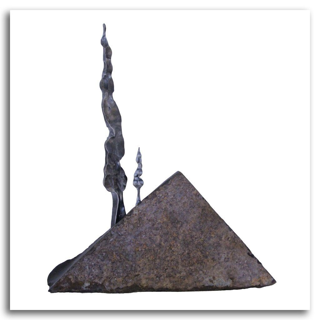 Father and Son Forged Iron and Stone by Paul Reimer