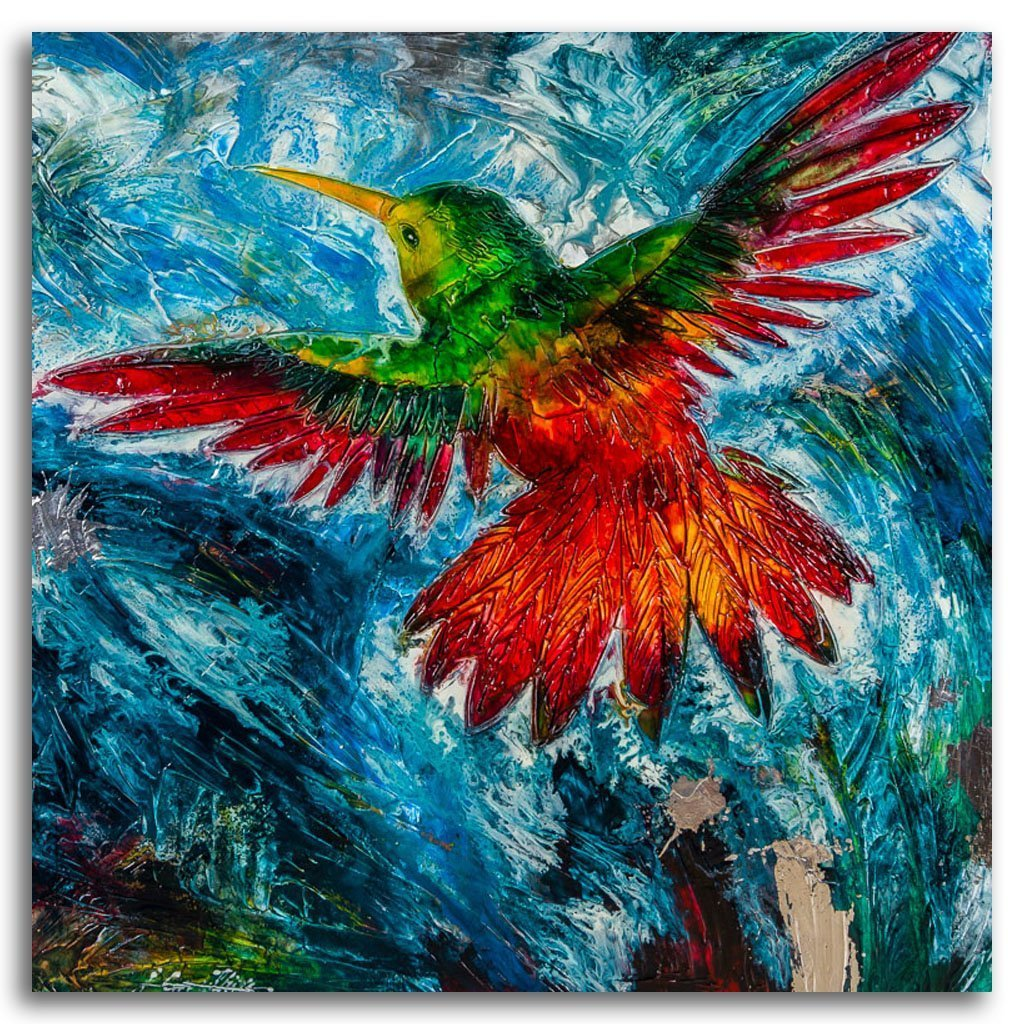 Firebird Oil on Canvas by Joanne Gauthier