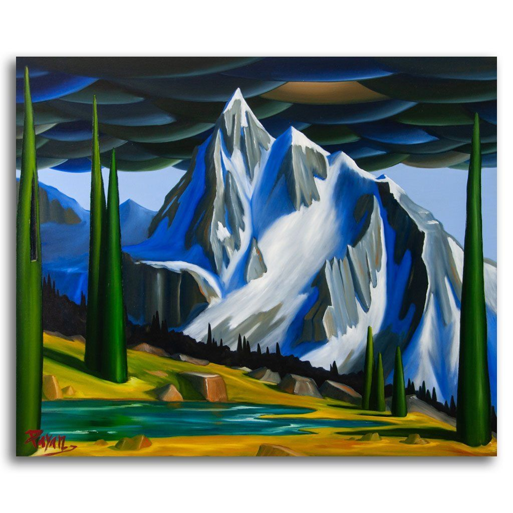 Fissile Peak, Whistler Oil on Canvas by Glenn Payan