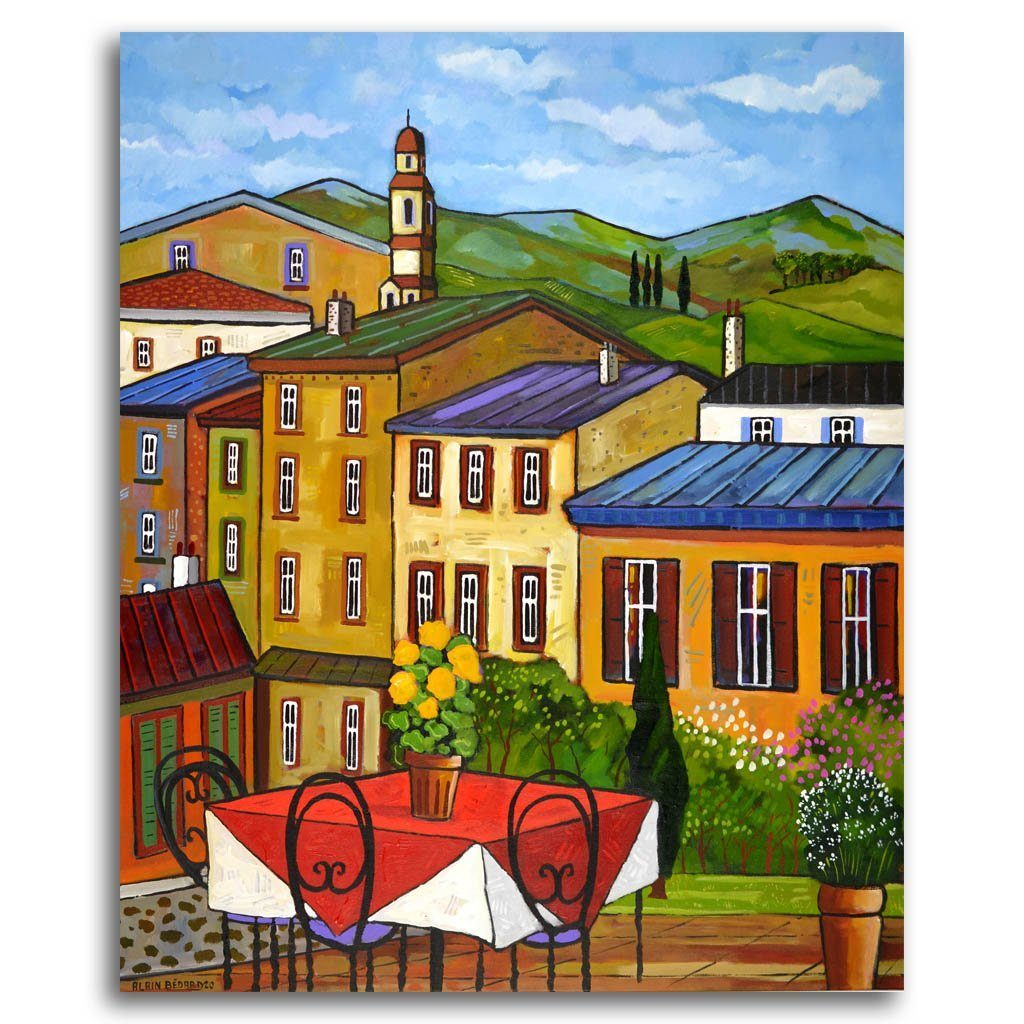 Gaiole in Chianti Acrylic on Canvas by Alain Bédard