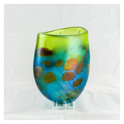 Giverny Flat Crucible, Medium Blown Glass by Robert Held