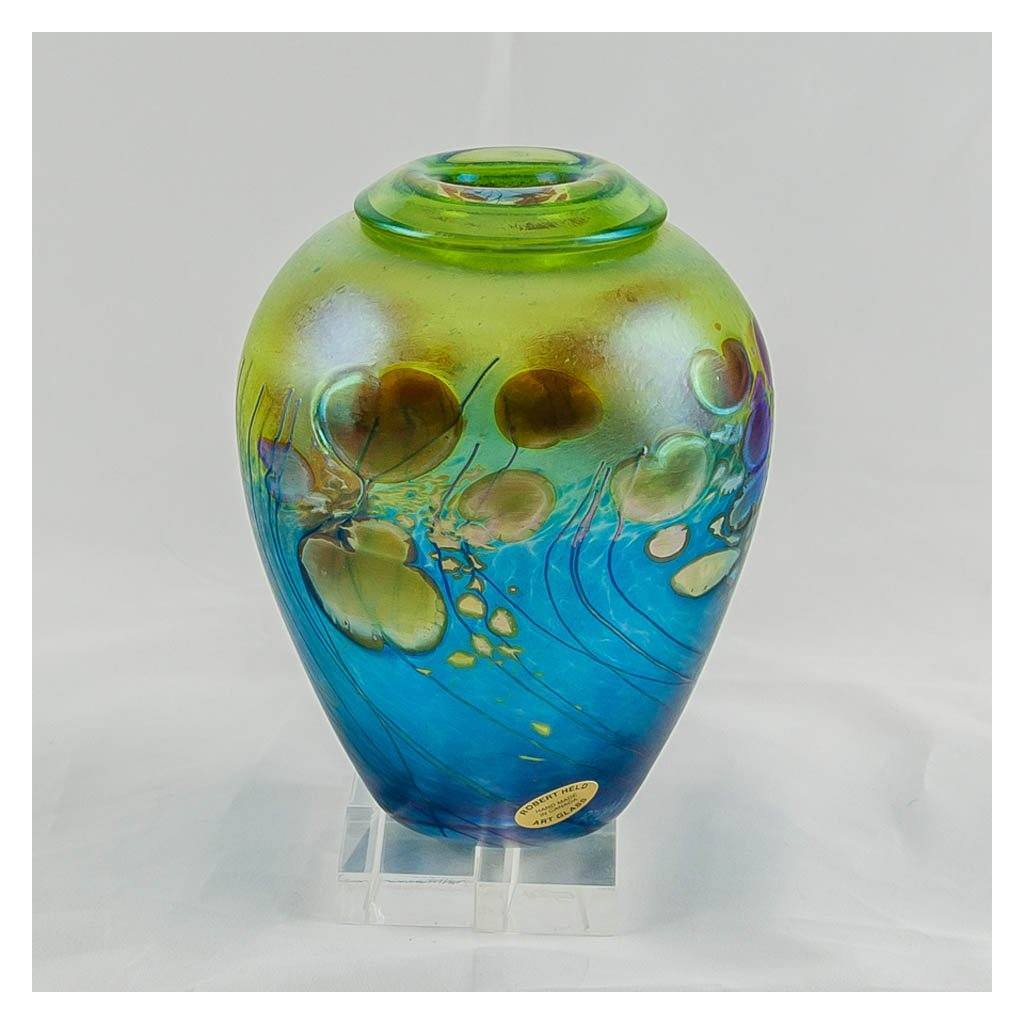 Giverny Ginger Pot, Small III Hand Blown Glass by Robert Held