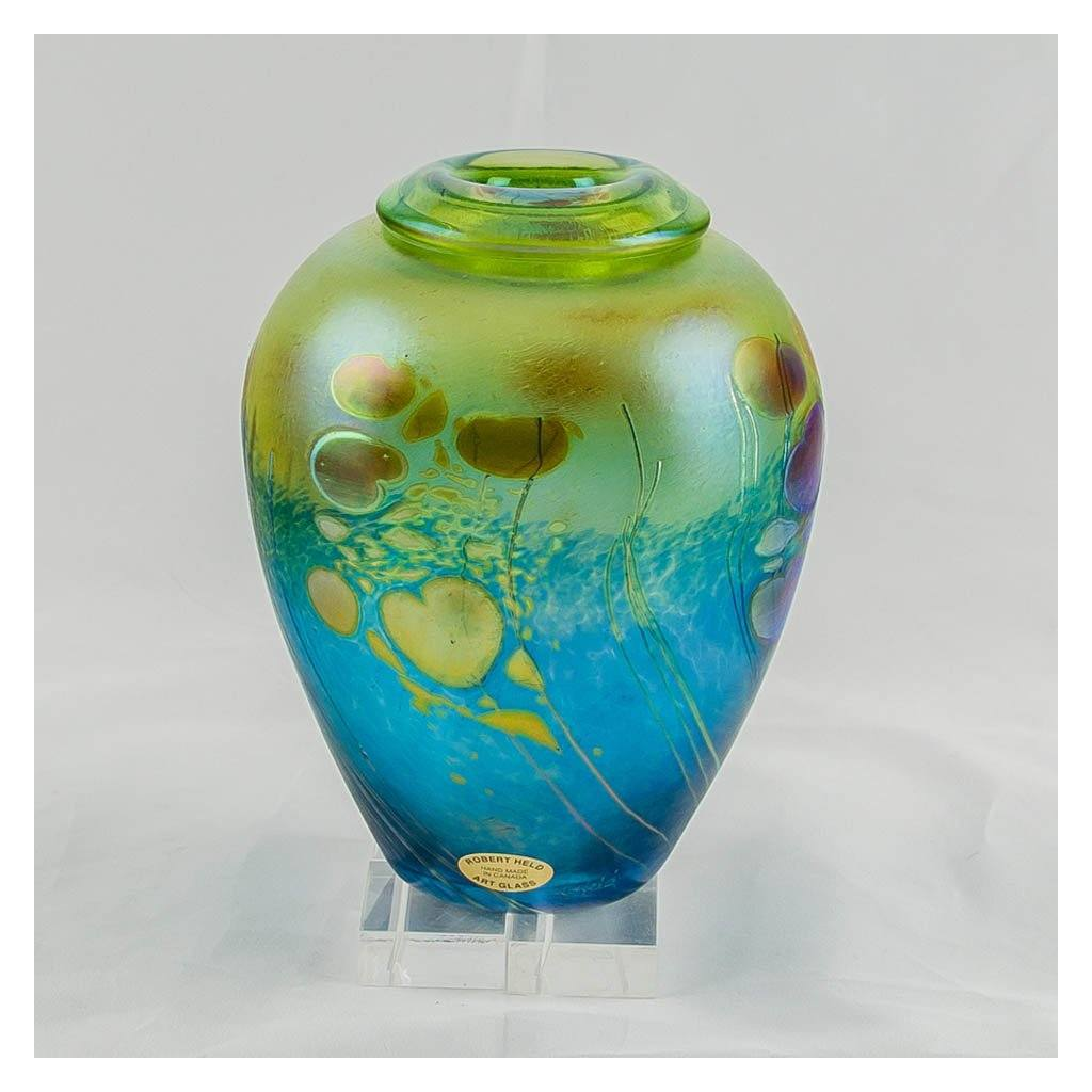 Giverny Ginger Pot, Small IV Hand Blown Glass by Robert Held