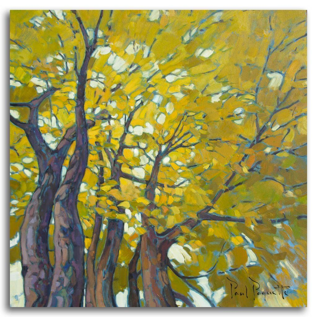 Golden Leaves Oil on Canvas by Paul Paquette