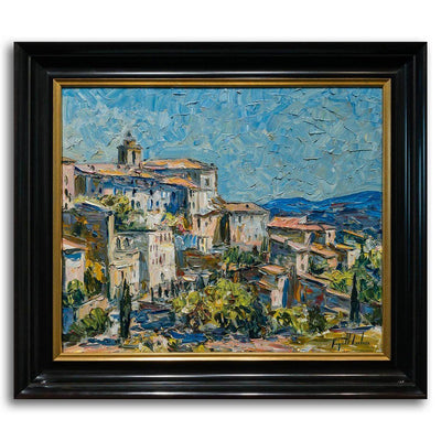 Gordes Oil on Canvas by Raynald Leclerc