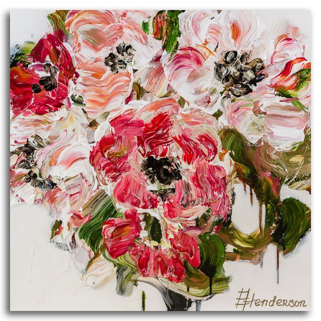 Happily in Bloom Series #12 Acrylic on Canvas by Elena Henderson