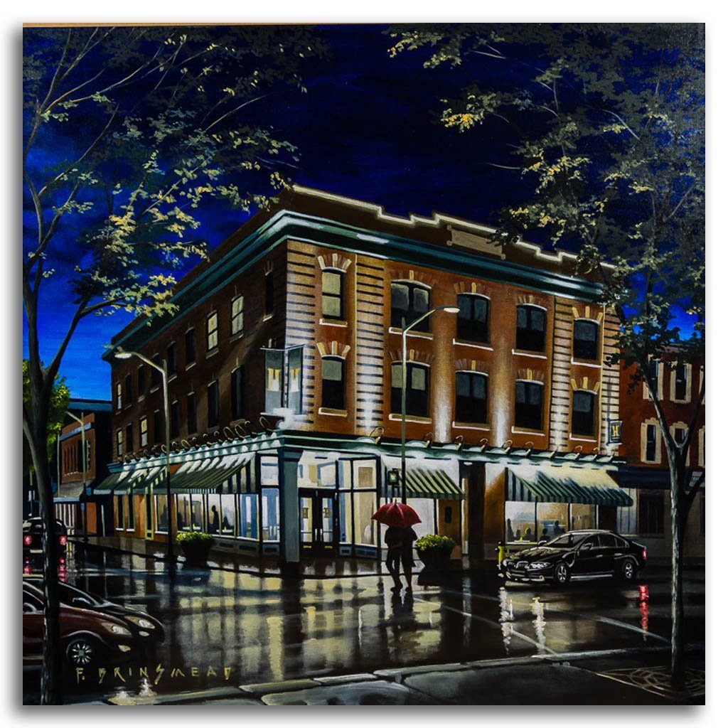 Hardware Grill Rendezvous Acrylic on Canvas by Fraser Brinsmead